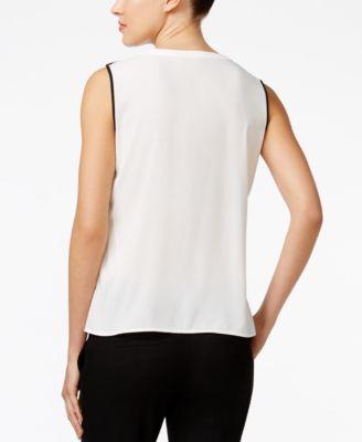 Calvin Klein Sleeveless Contrast-Trim ..