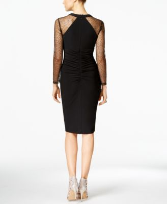 INC International Concepts Embellished Illusion Sheath Dress