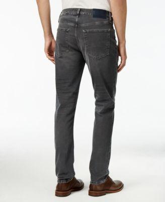 Tommy Hilfiger Mens Slim-Fit Gray Wash Jeans