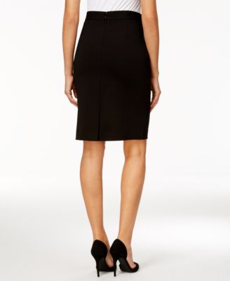 Kasper Zip-Pocket Pencil Skirt