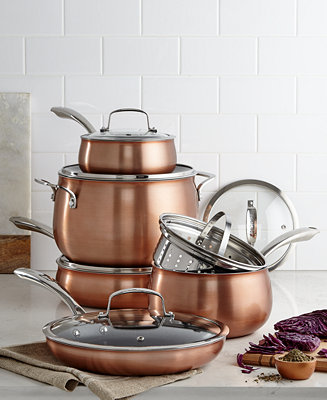 Belgique Copper Translucent 11 Piece Cookware Set Only At