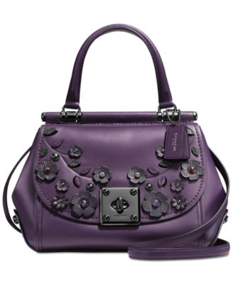 COACH Drifter Top Handle Satchel in Willow Floral Print Leather