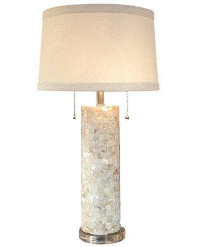 Regina Andrew Mother Of Pearl Column Table Lamp Lighting