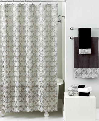 Avanti Bath Accessories, Galaxy Shower Curtain - Bathroom ...