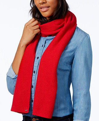 hilfiger heidi knit scarf only at macy s