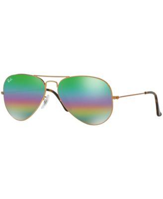a2ae8381fd16b Ray Ban Classic Aviator Rb 3025 9018C3 58Mm Metallic Medium Bronze Aviator  Sunglasses In Dark Bronze
