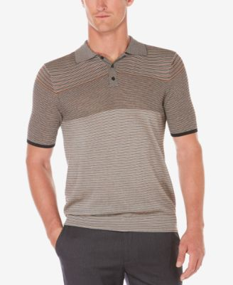 Perry Ellis Mens Stripe Polo