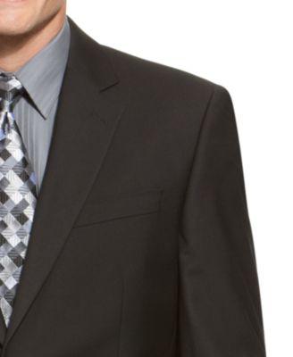 IZOD Two-Button Black Solid Suit