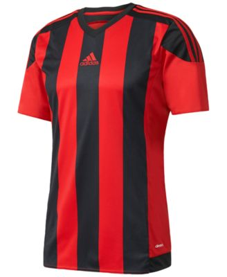 Adidas Originals Adidas Men S Climacool Striped Soccer Jersey In Red Black dc0f2a079