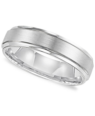 triton men 39 s white tungsten carbide ring comfort fit On white tungsten mens wedding band