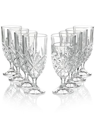 Godinger Stemware, Dublin Iced Beverage, Set of 8
