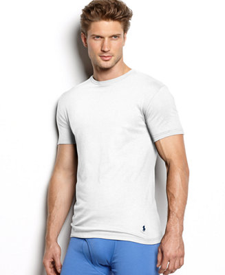 Polo ralph lauren men 39 s underwear classic cotton crew t for Polo shirt with undershirt