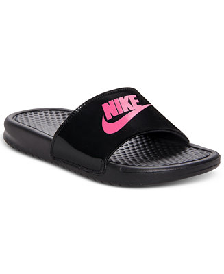 Nike Girls Benassi Slide Sandals From Finish Line