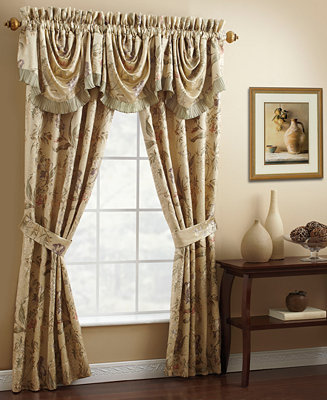 Croscill Iris 50 X 21 Waterfall Swag Window Valance Bedding Collections Bed Bath Macy 39 S