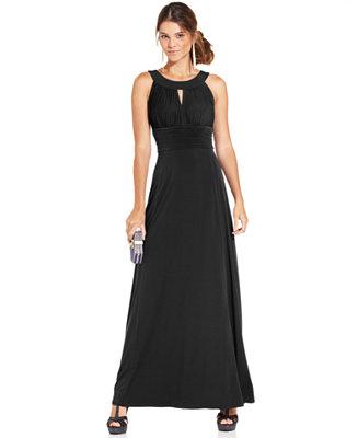 Luxury NY Collection ThreeQuarterSleeve Textured ALine Dress