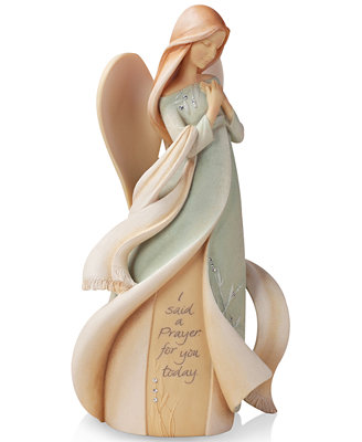 foundations prayer angel collectible figurine id