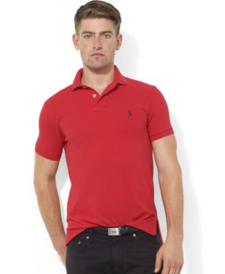 Polo Ralph Lauren Men\u0026#39;s Core Polo Shirts, Custom Fit Mesh Polo
