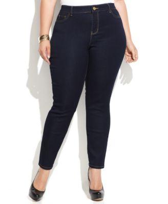 MICHAEL Michael Kors Plus Size Skinny Jeans, Dark Wash