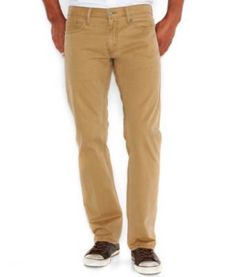 Levis Mens 514 Straight Fit Twill Pants