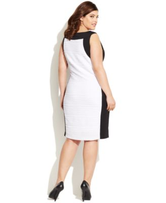 Calvin Klein Plus Size Colorblocked Te..