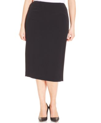 Kasper Plus Size Skimmer Skirt