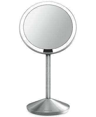 simplehuman mini lighted sensor activated magnifying vanity makeup mirror s. Black Bedroom Furniture Sets. Home Design Ideas
