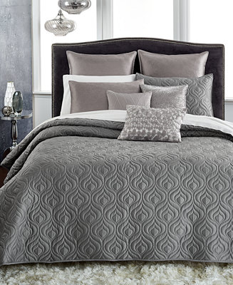 closeout inc international concepts rizzoli gunmetal coverlet collection only at macy 39 s. Black Bedroom Furniture Sets. Home Design Ideas
