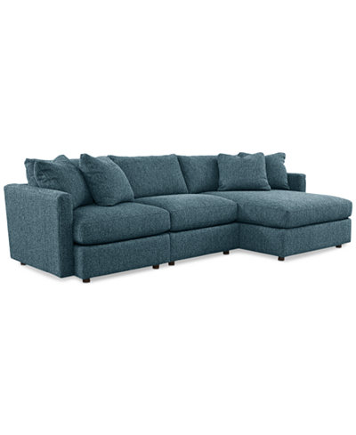 chaise sectional piece clinton fabric colors custom