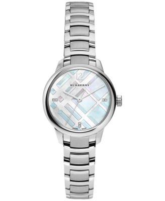 Burberry Womens Swiss Diamond Accent S..