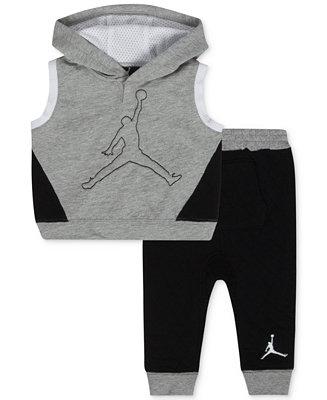 Jordan Baby Boys 2 Piece Sleeveless Hoodie Amp Pants Set