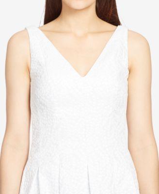 Lauren Ralph Lauren V-Neck Jacquard Dress