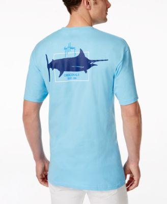 Guy Harvey Mens Solid Graphic Logo T-Shirt
