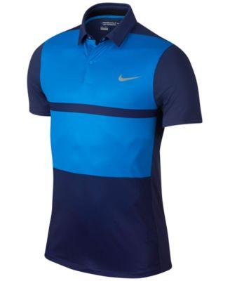 Nike Mens MM Fly Framing Block Slim-Fit Golf Polo