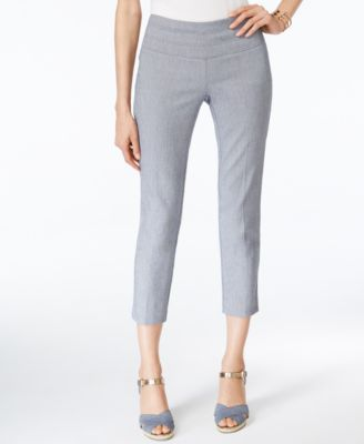 Alfani Faux Denim Capri Pants
