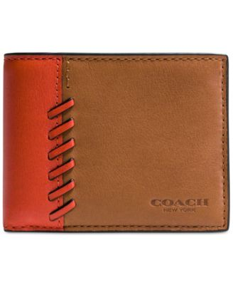 COACH Men's Boxed Rip and Repair Slim Billfold Wallet