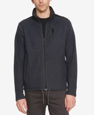 Kenneth Cole New York Mens Lightweight Knit Stand-Collar Jacket