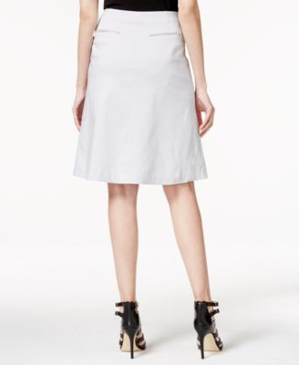 Alfani PRIMA Zip-Pocket A-Line Skirt