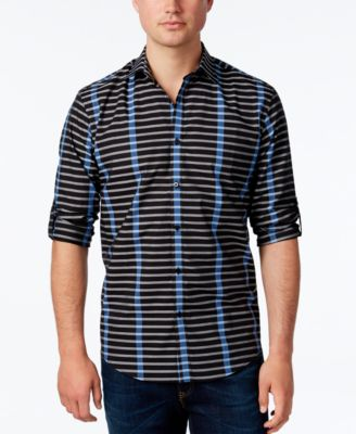 Alfani Mens Stripe Long-Sleeve Shirt C..