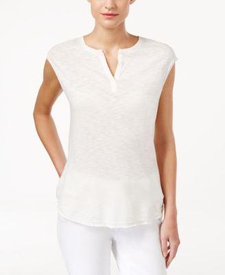 Calvin Klein Jeans Sleeveless Split-Ne..
