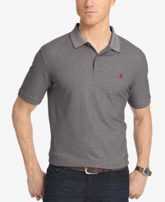 IZOD Mens Piqué Performance Heathered..
