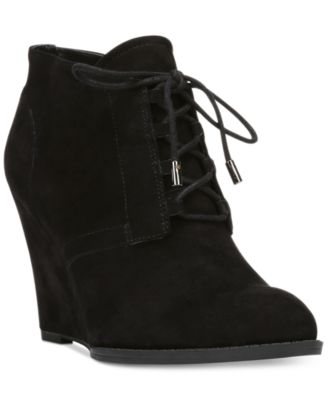 Franco Sarto Lennon Lace-Up Wedge Ankle Booties