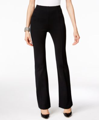 INC International Concepts High-Waist Curvy-Fit Bootcut Pants