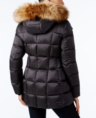 Marc New York Faux-Fur-Trim Hooded Quilted Down Coat