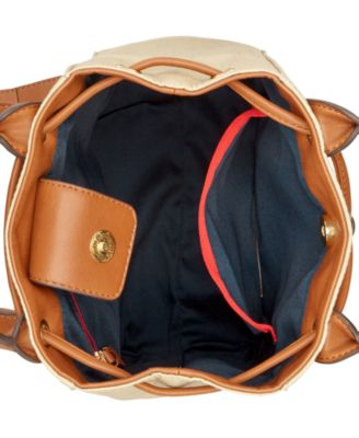 Tommy Hilfiger Eyelet Metallic Canvas Backpack