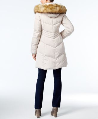 Jones New York Faux-Fur-Trim Hooded Do..