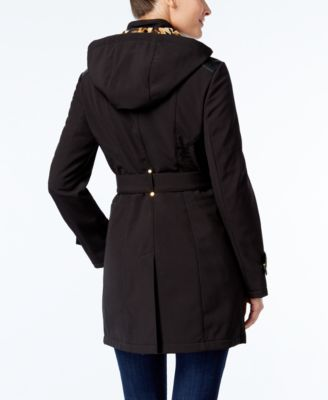 Via Spiga Faux-Leather-Trim Walker Coat
