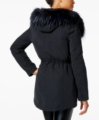 RACHEL Rachel Roy Faux-Fur-Trim Hooded Anorak