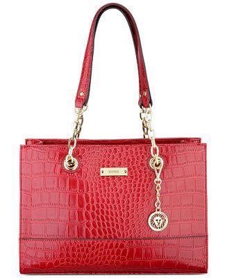 Anne Klein Coast Is Clear Small Chain Tote Handbags