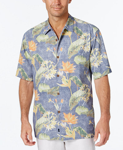 Tommy bahama men 39 s tropical lilies floral print short for Custom tommy bahama shirts