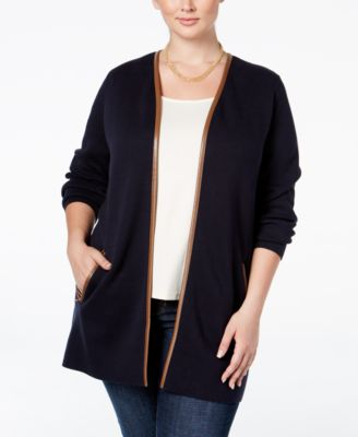 Charter Club Plus Size Milano Duster Cardigan, Only at Macy's